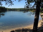 Walden Pond, two miles from Concord