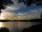 Sun dog over the Merrimack River, from Jim's campsite on Derr Island